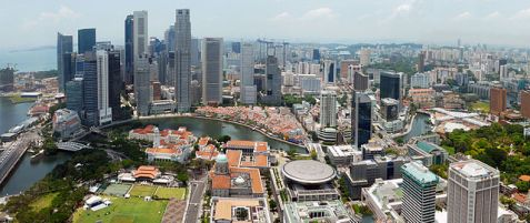 Singapore City Skyline 2010, Day Panorama, Wikimedia Commons