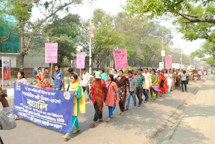 Bangladesh women's rally