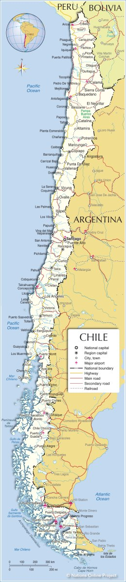 Chile Participatory Local Democracy - Argentina highway map