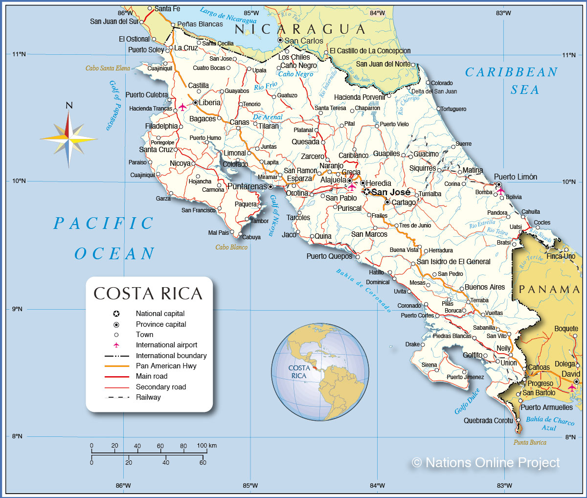 It's just a picture of Declarative Printable Map of Costa Rica