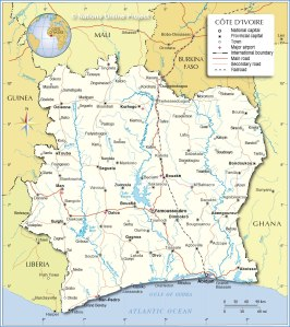 cote-dIvoire-political-map