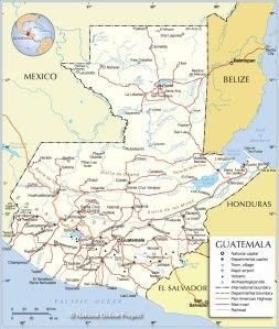 guatemala-political-map