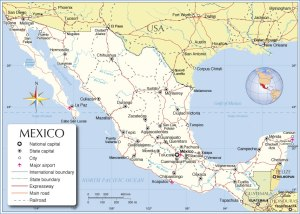 mexico-political-map