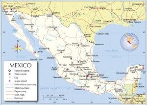 mexico-political-map