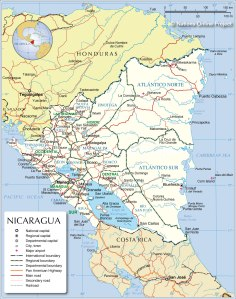 nicaragua-administrative-map