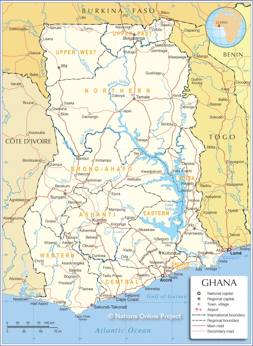 Ghana In Africa Map.Ghana Participatory Local Democracy