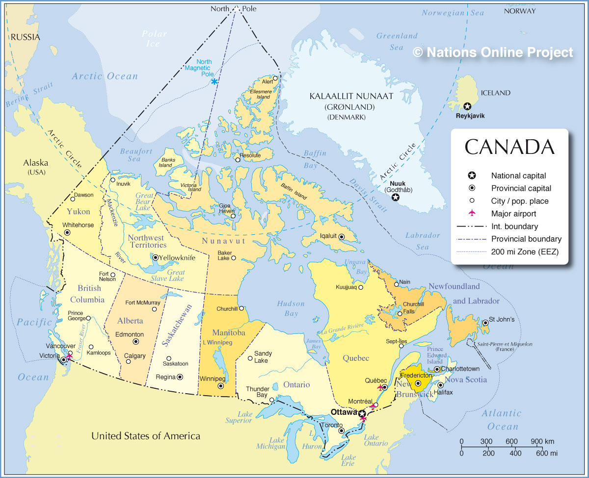 Map Key Of Canada Canada | Participatory Local Democracy