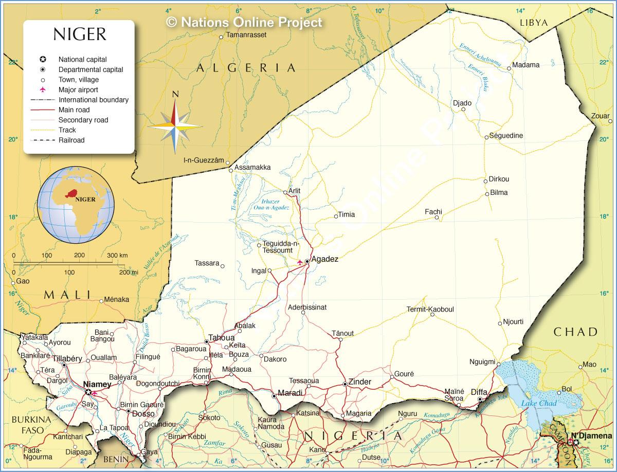 niger map geography of niger map of niger worldatlascom - HD1200×918