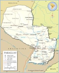 paraguay-political-map