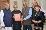 President of India was presented publication on panchayati raj