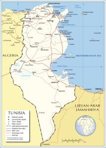tunisia-political-map